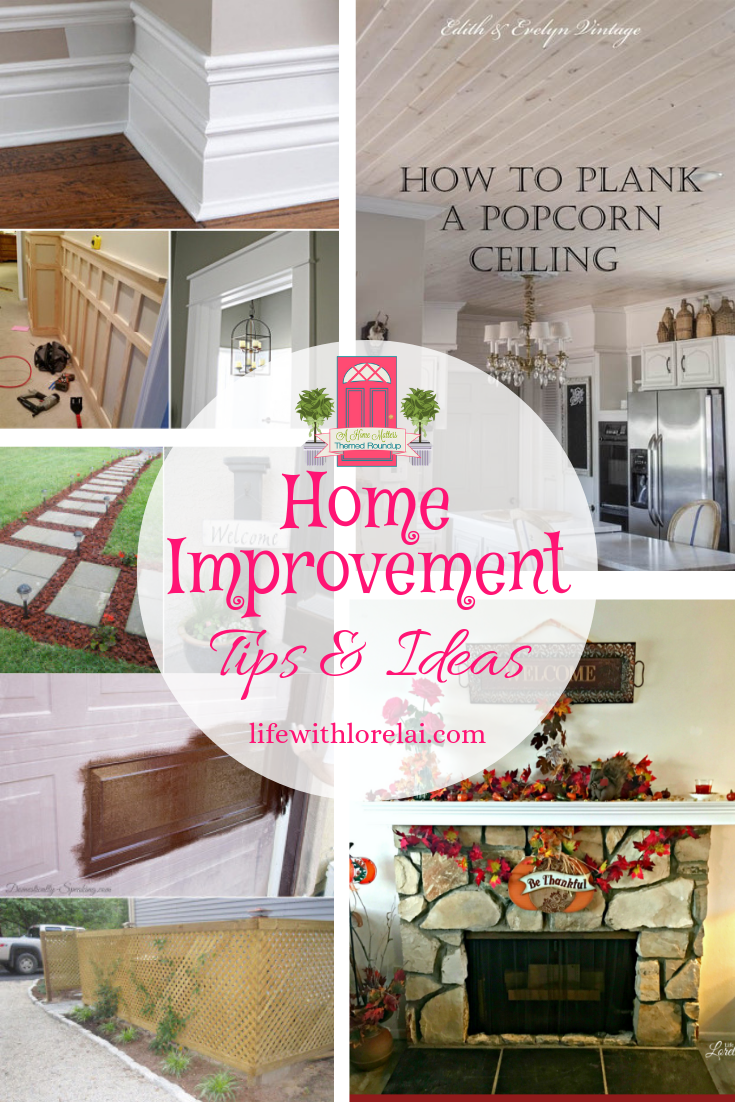 Find great home improvement tips and ideas. Plus, link up at Home Matters with recipes, diy, decor, and crafts. #HomeImprovement #HomeDIY #HomeMattersParty