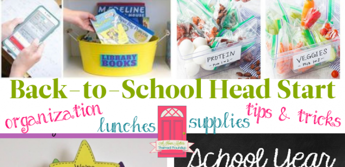 We're giving you a head start on Back-to-School tips and ideas for a fab school year! Linkup @ Home Matters. #BacktoSchool #Back2School #HomeMattersParty