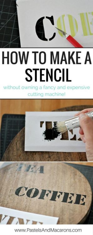 Find ideas for your Stencil Crafts projects! Plus, linkup at Home Matters with recipes, DIY, decor, and more. #StencilCrafts #stencils #HomeMattersParty