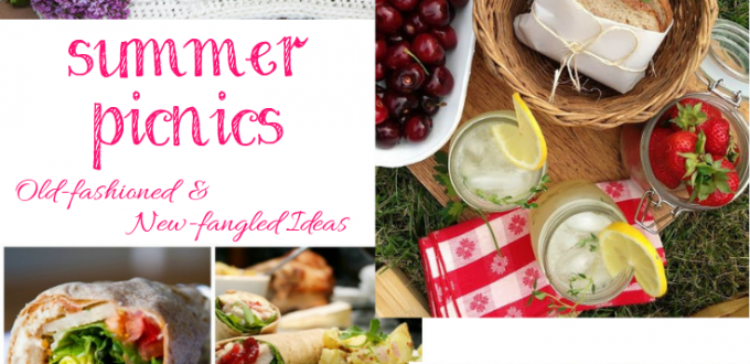 Fun ideas for your next old-fashioned or new-fangled summer picnic. Linkup @ Home Matters with recipes, DIY, decor. #SummerPicnics #Picnic #HomeMattersParty