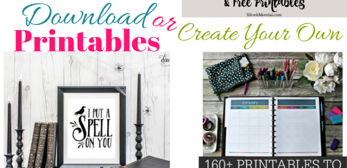 Be inspired by Printables! Download or create your own. Plus link up at Home Matters with recipes, crafts, decor, DIY, more. #Printables #HomeMattersParty