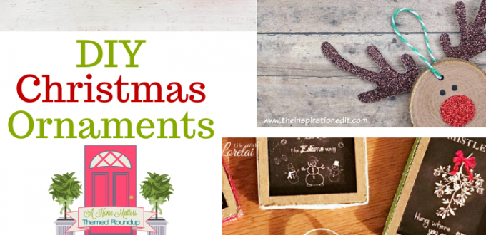 Crafty, creative DIY Christmas Ornaments. Plus, link up at Home Matters with recipes, decor, DIY, more. #DIYChristmasOrnaments #Ornaments #HomeMattersParty
