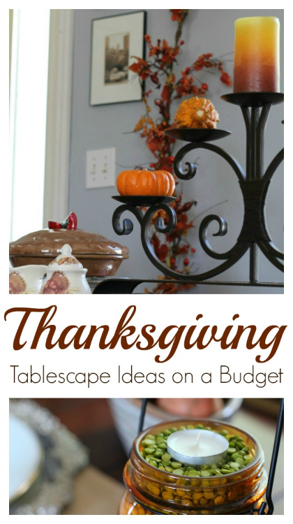 Thanksgiving Decor - festive decorating. Plus link up at Home Matters w/ recipes, crafts, more. #ThanksgivingDecor #ThanksgivingDecorating #HomeMattersParty